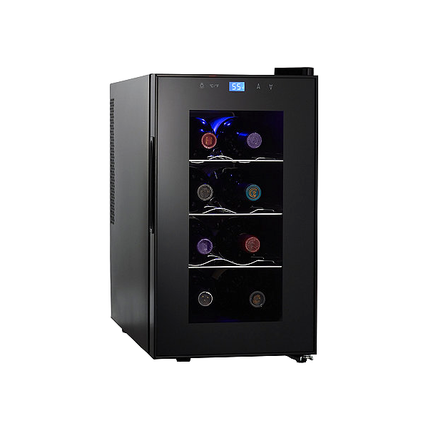 wine enthusiast silent 8bottle touchscreen wine a single zone unit with intuitive controls that nailed our temperature tests
