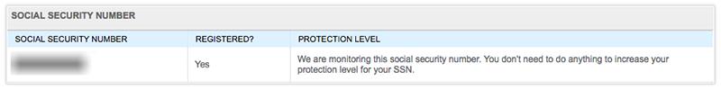 Screenshot of IdentityGuard Alert SSN