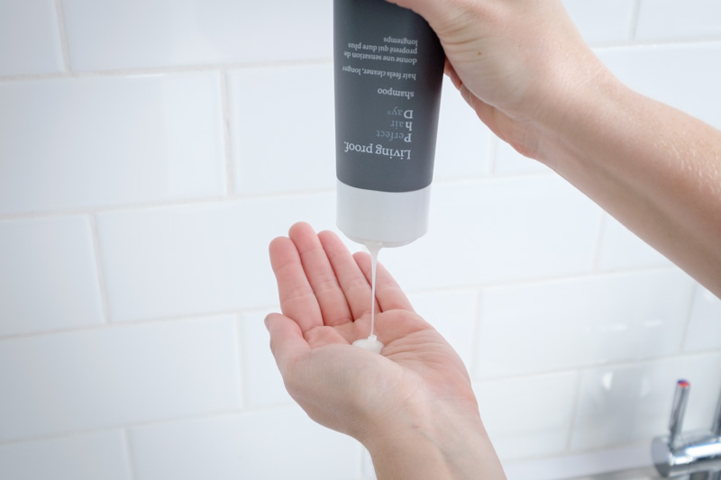 Close-up of Living Proof Shampoo