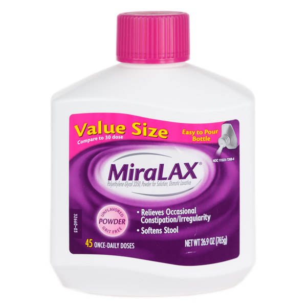 Best for Sensitive Stomachs. MiraLAX Laxative ... - The Best Laxative For 2017 - Reviews.com