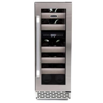 Whynter Elite 17 Bottle Seamless Stainless Steel Door Dual Zone Built In Wine Refrigerator A Sy Fridge Designed To Be Either Freestanding Or