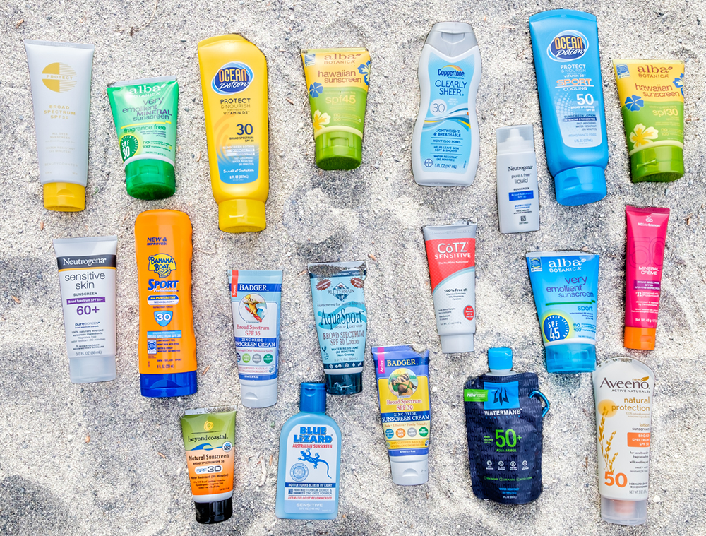Group shot of Sunscreen