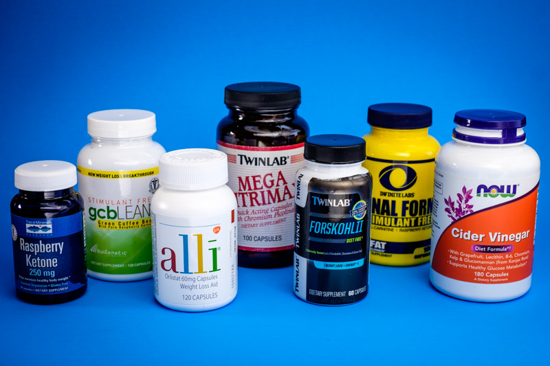 Group Shot Of Weight Loss Pills
