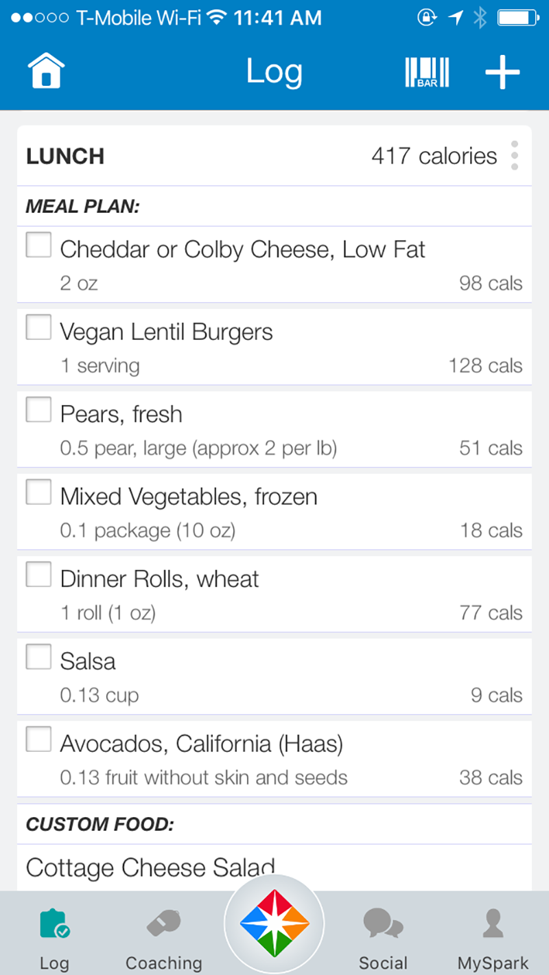 The best weight loss programs of 2018 reviews sparkpeople meal details screenshot for weight loss programs nvjuhfo Gallery
