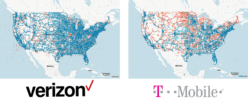 The Best Cell Phone Plans For Reviewscom - Us cellular coverage map vs verizon
