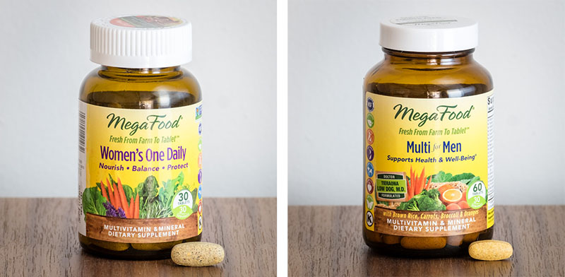 Close-ups of MegaFood Multivitamins