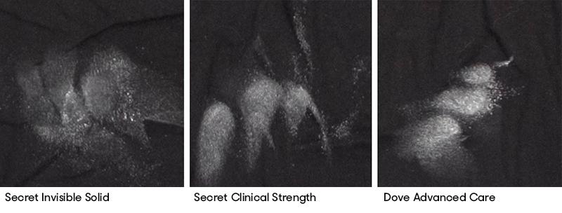 Secret-Comparison-Labeled for Antiperspirant