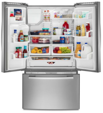 GE Makes Sure Its Real Estate Is Used As Efficiently As Possible With Two  Standout Features. First, It Builds Its Icemakers Into The Left Front Door,  ...