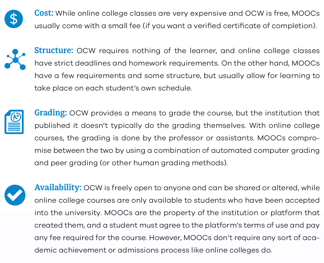 The best mooc platforms of 2018 reviews moocs are a kind of middle ground between the two extremes here are some of the main differences solutioingenieria Gallery
