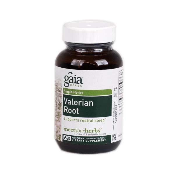 Gaia Herbs Valerian Root Vegan Liquid Capsules