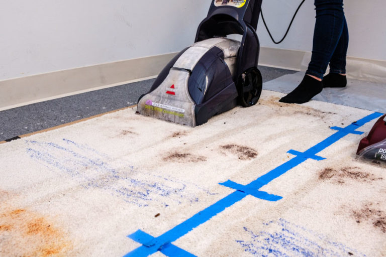 Power Lifter Test for Carpet Cleaner