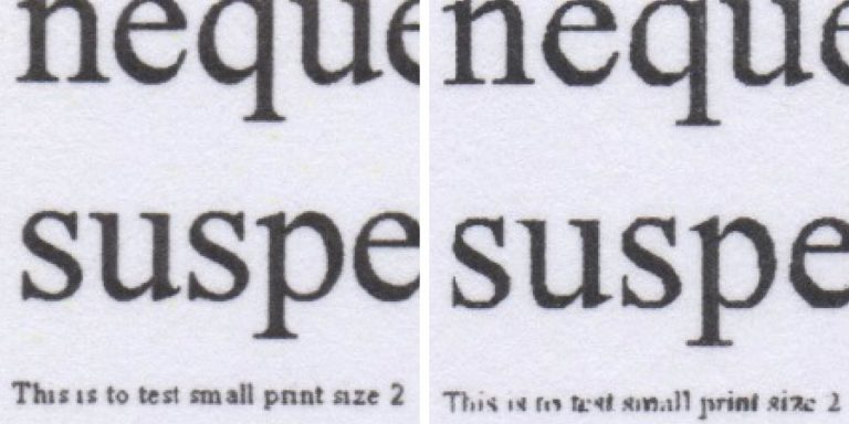 Text Comparison 2 for Laser Printer