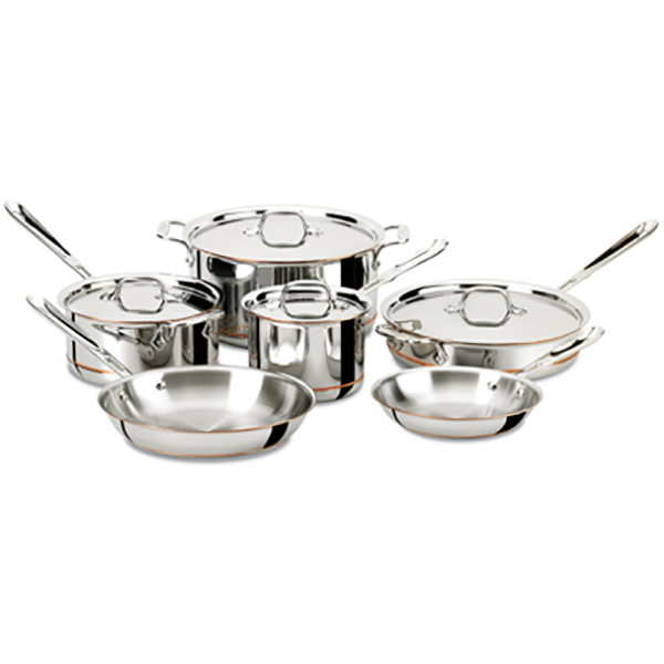 All Clad Copper Core 10 Piece Cookware Set