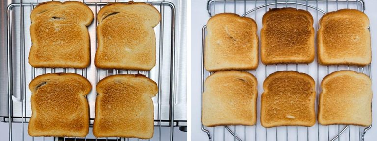 Toast Comparison for Toaster Oven 2