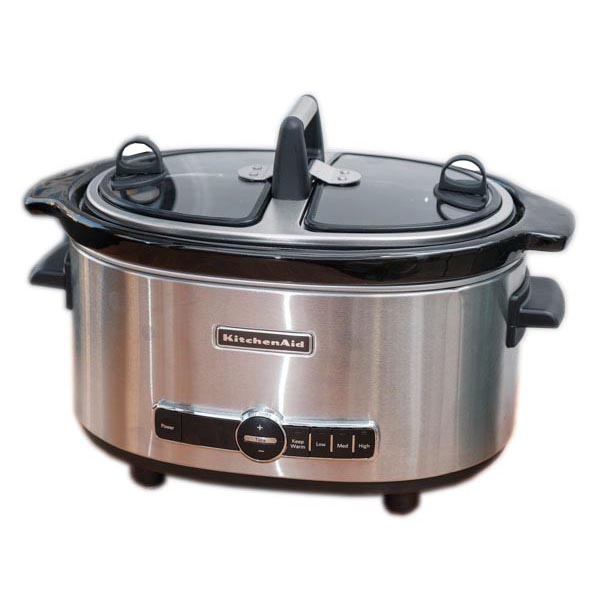 KitchenAid 6 Quart Slow Cooker with Easy Serve Glass Lid