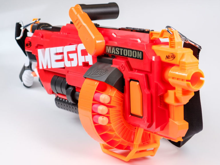 The first thing you realise about the DoubleBreach, upon taking it out of  its typically Nerf-y packaging, is how big it is. It's a chunky blaster, ...
