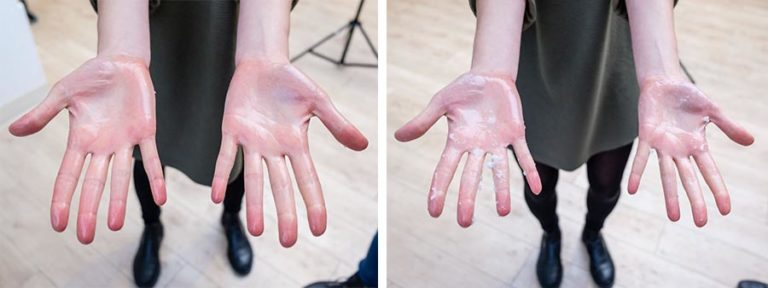 Hand-Comparison-for-Coconut-Oil