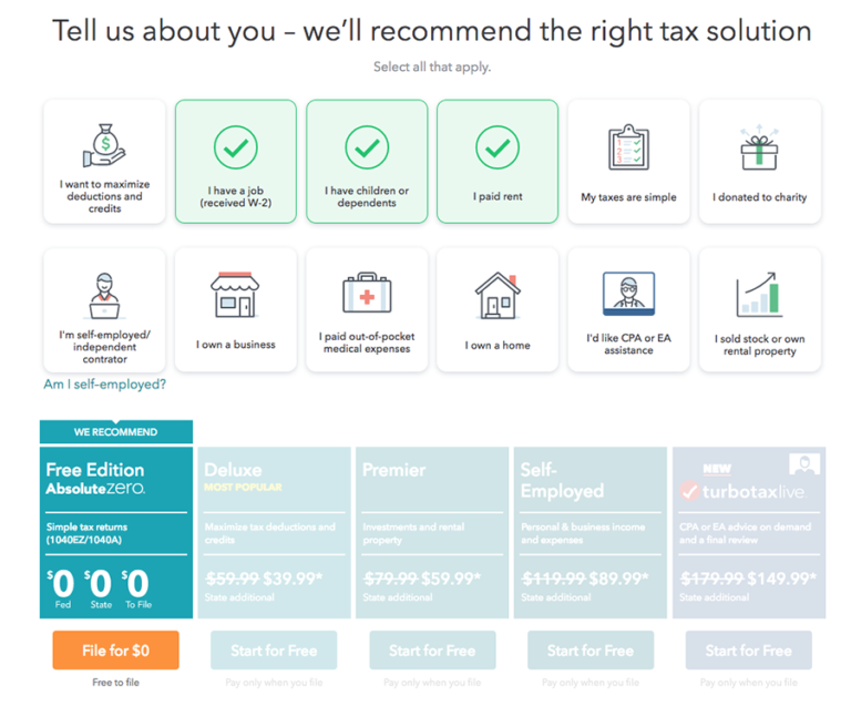 Plan-Selection-TurboTax-for-Online-Tax-Software