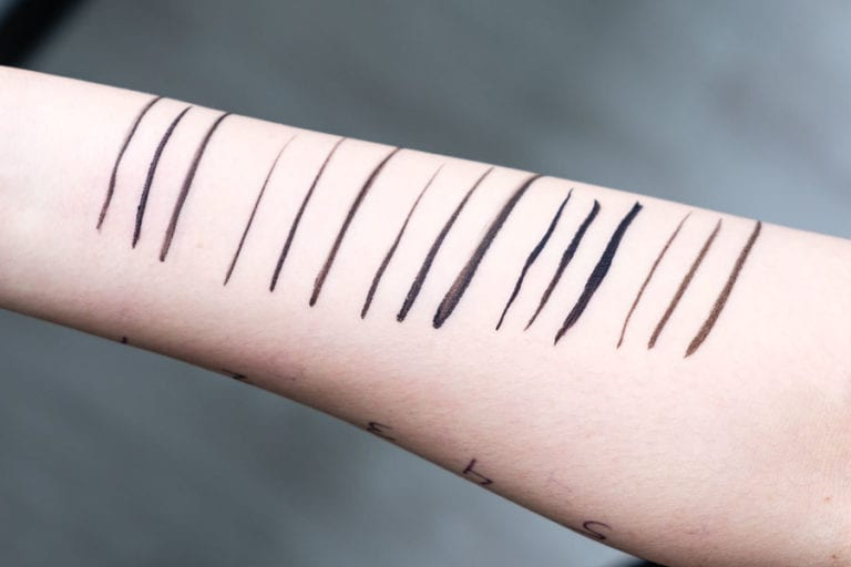 Arm Swatches for Eyeliner