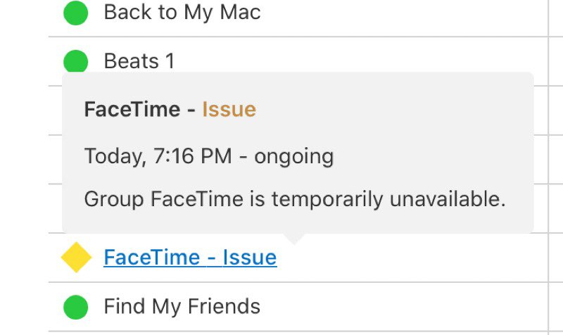FaceTime issue
