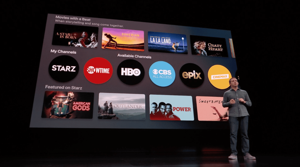 Menu for Apple TV