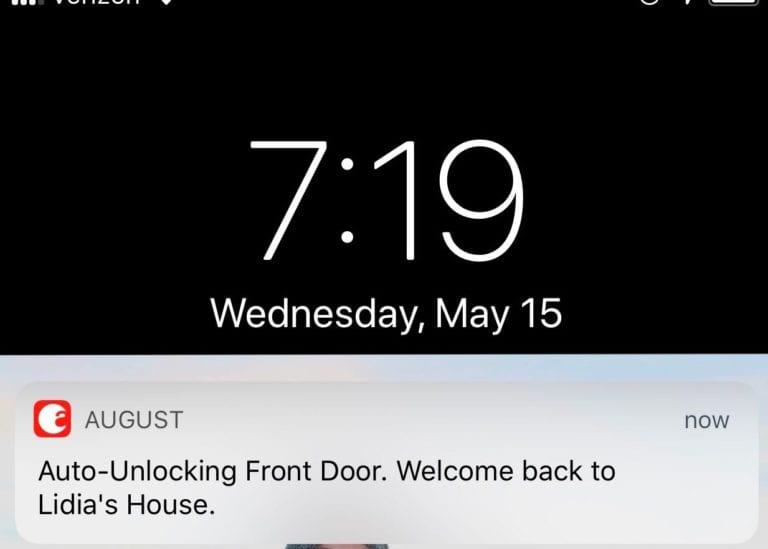 August push notification