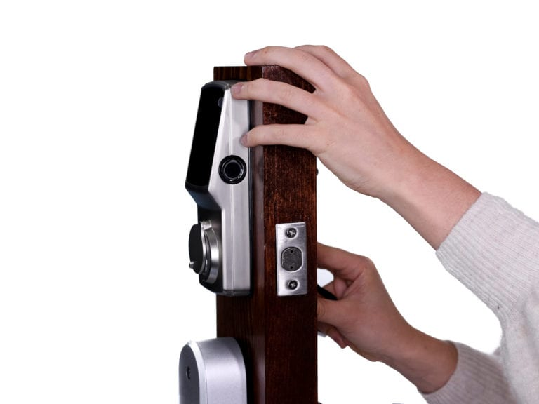 Installing a Lockly Secure Pro smart lock