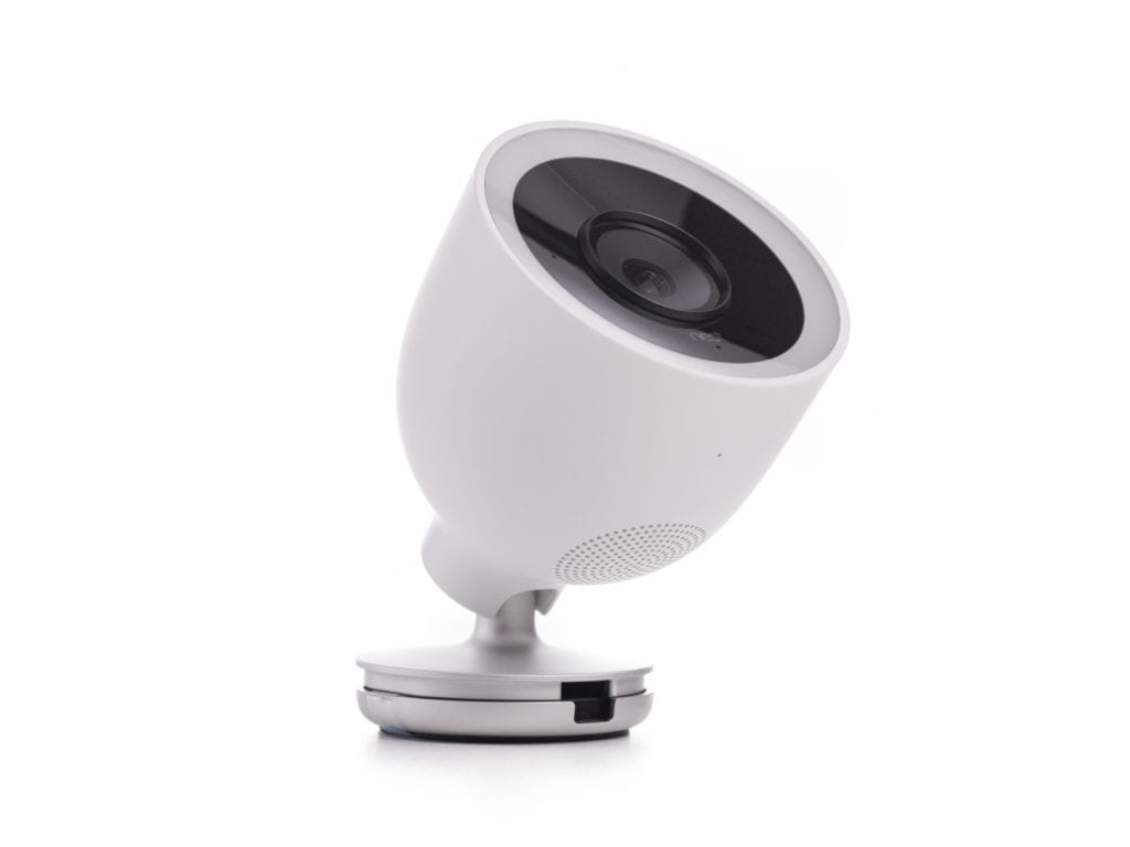 Profile view of the Google Nest IQ Outdoor security camera.