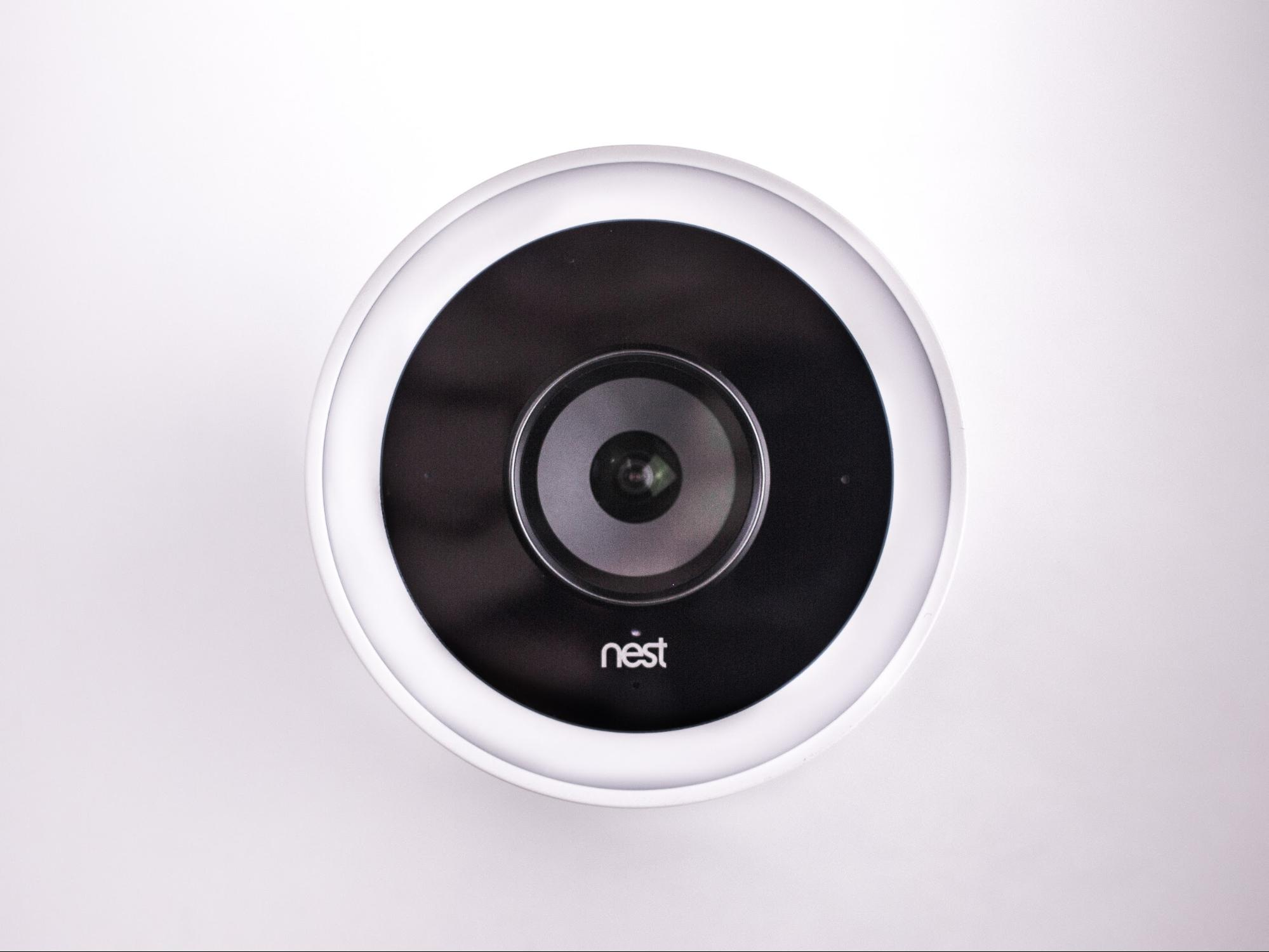 The lens of the Google Nest Cam IQ